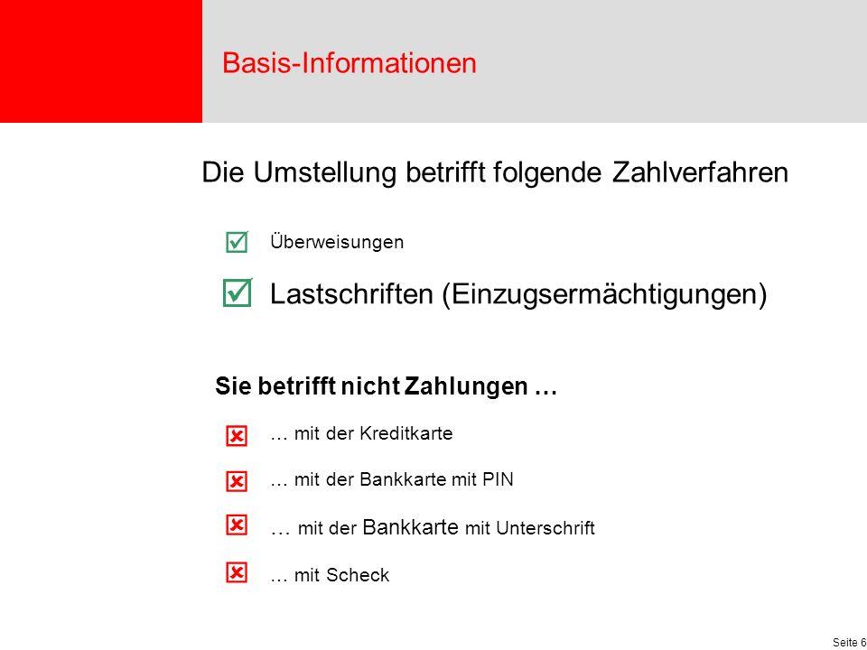  Basis-Informationen Die Umstellung betrifft folgende Zahlverfahren 