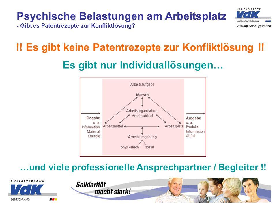 Psychische Belastungen am Arbeitsplatz - Gibt es Patentrezepte zur Konfliktlösung