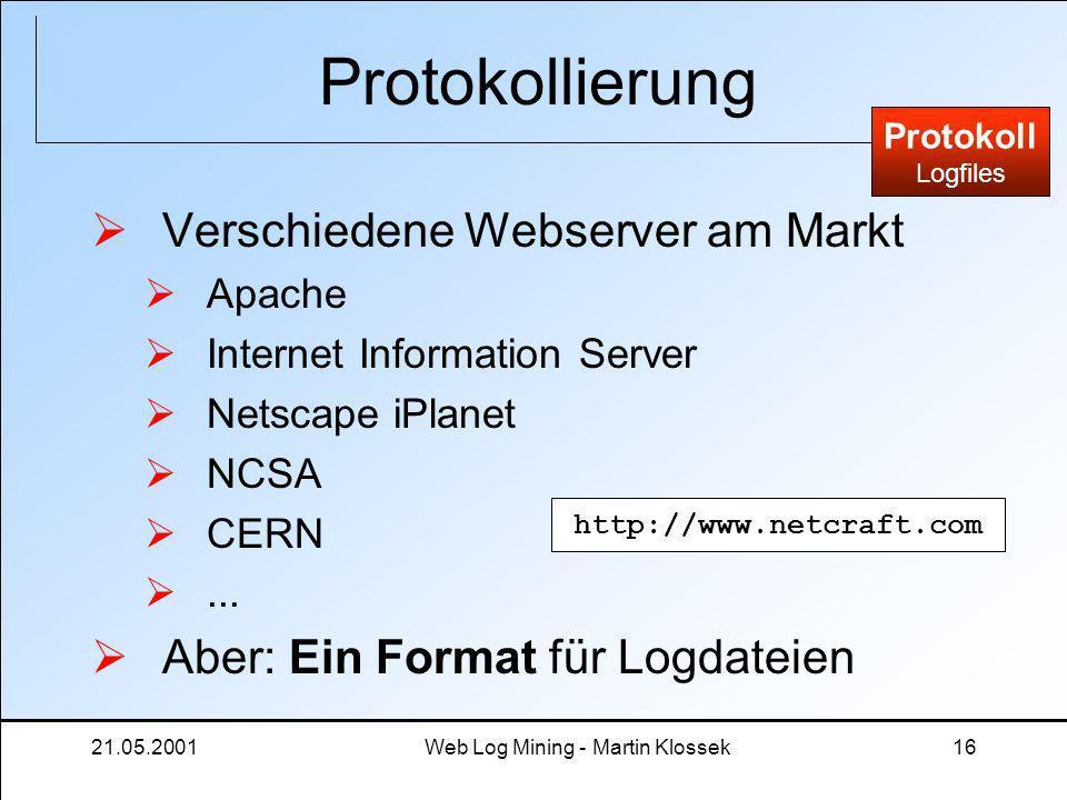 Web Log Mining - Martin Klossek