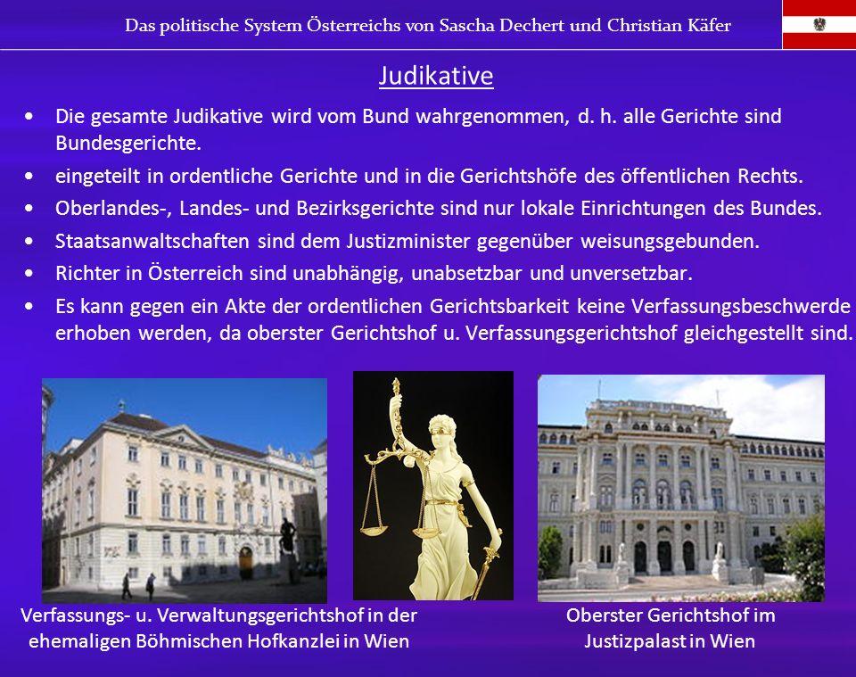 Oberster Gerichtshof im Justizpalast in Wien