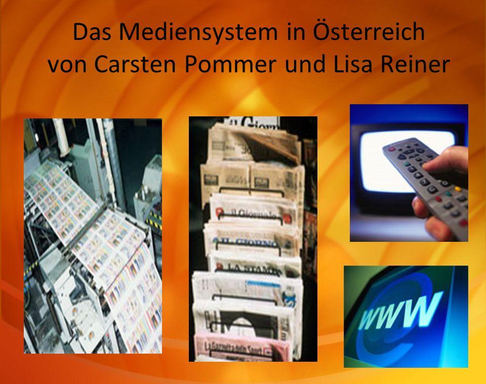 Das Mediensystem in Österreich von Carsten Pommer und Lisa Reiner