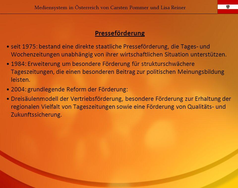 Mediensystem in Österreich von Carsten Pommer und Lisa Reiner