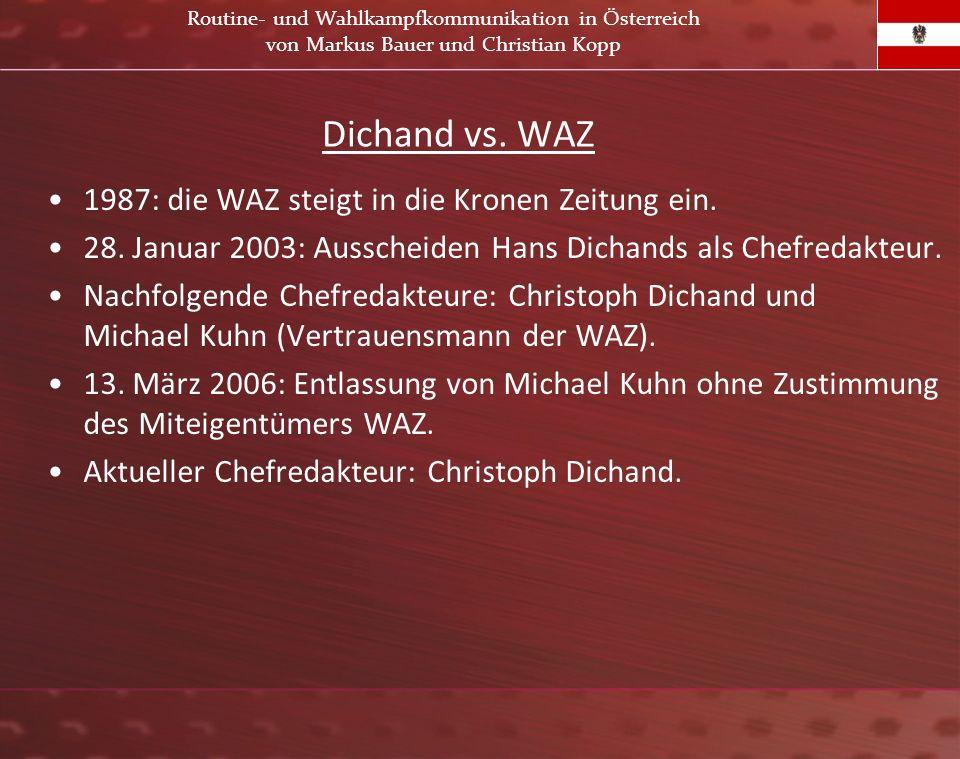 Dichand vs. WAZ 1987: die WAZ steigt in die Kronen Zeitung ein.