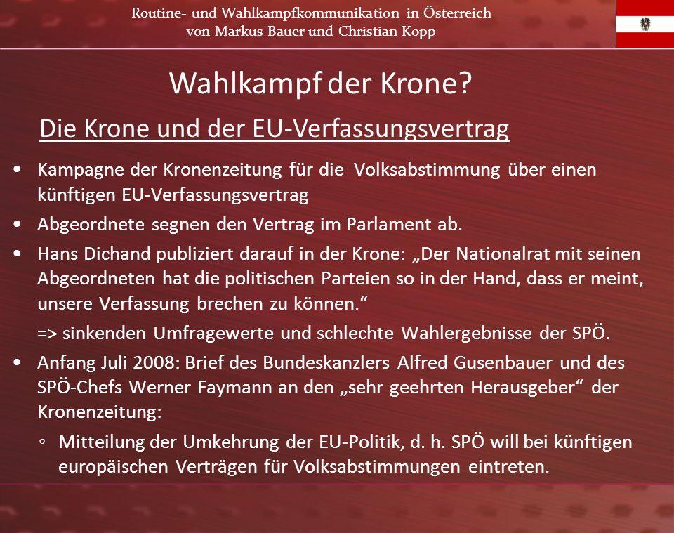Wahlkampf der Krone Die Krone und der EU-Verfassungsvertrag