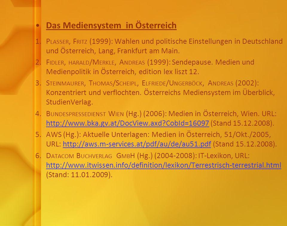 Das Mediensystem in Österreich