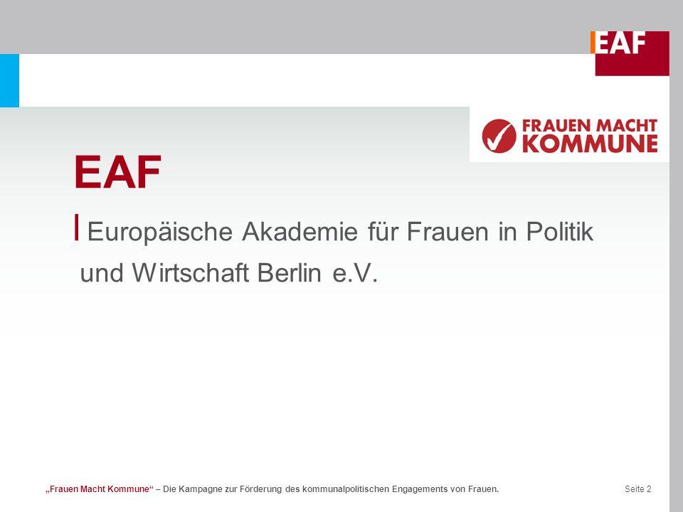 EAF Europäische Akademie für Frauen in Politik