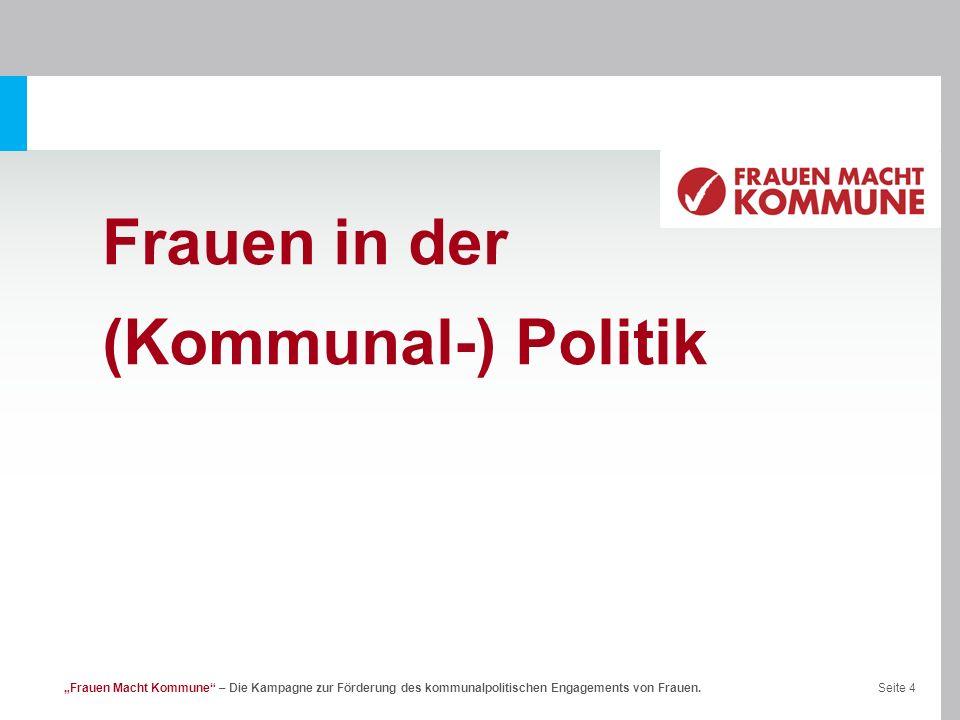 Frauen in der (Kommunal-) Politik