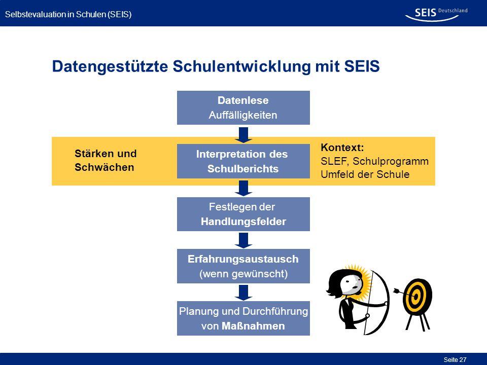 Datengestützte Schulentwicklung mit SEIS