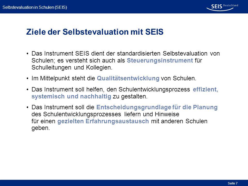 Ziele der Selbstevaluation mit SEIS