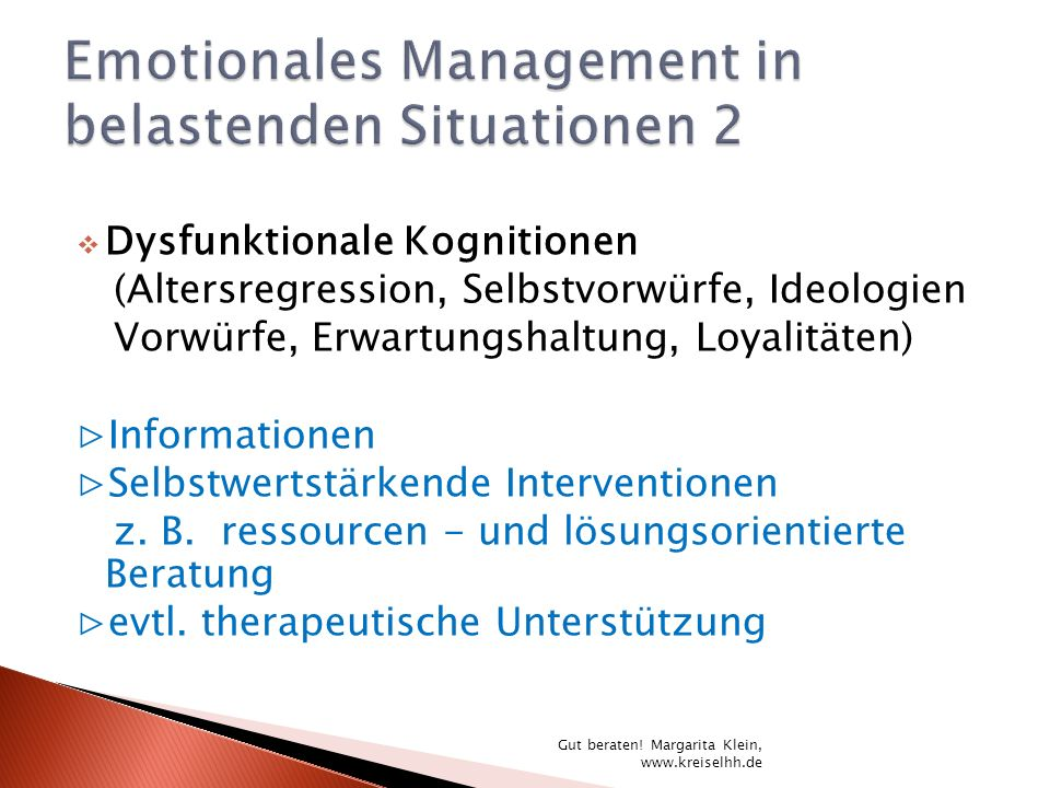 Emotionales Management in belastenden Situationen 2