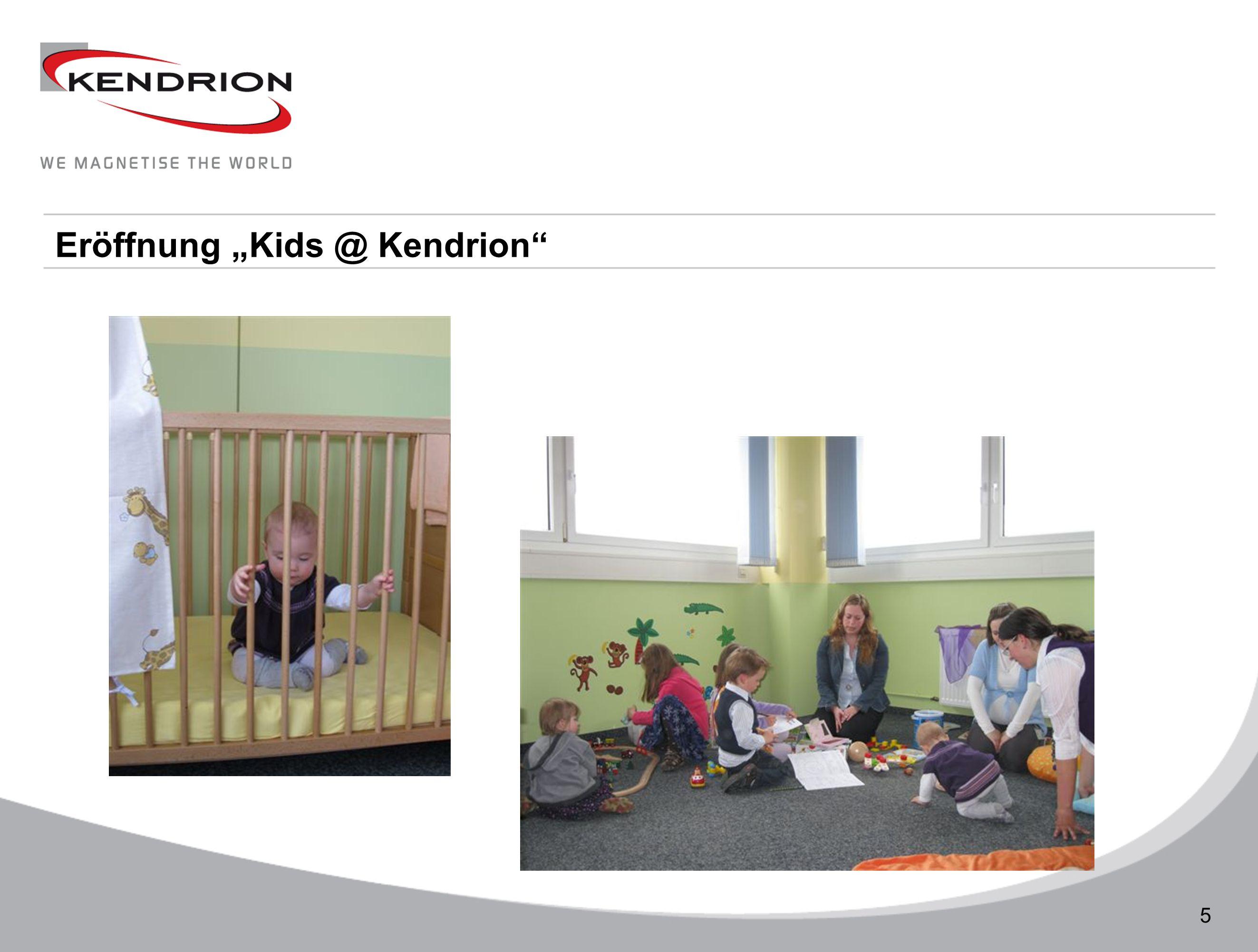 """Eröffnung """"Kids @ Kendrion"""