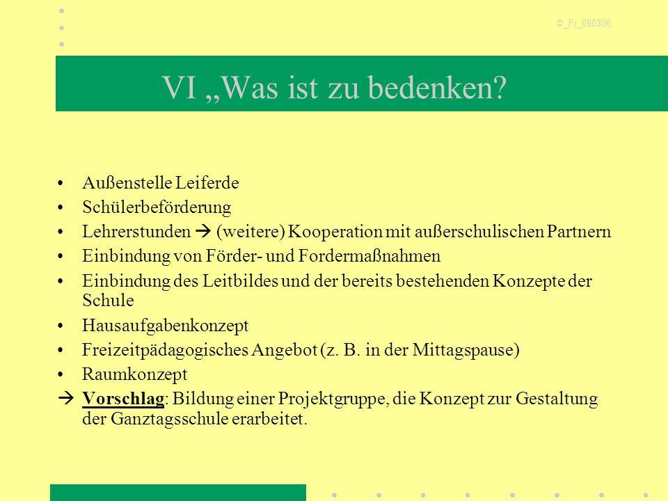 """VI """"Was ist zu bedenken Außenstelle Leiferde Schülerbeförderung"""