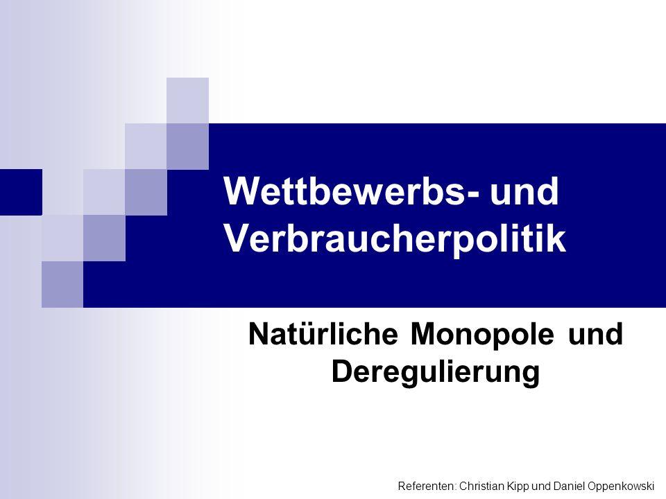Wettbewerbs- und Verbraucherpolitik