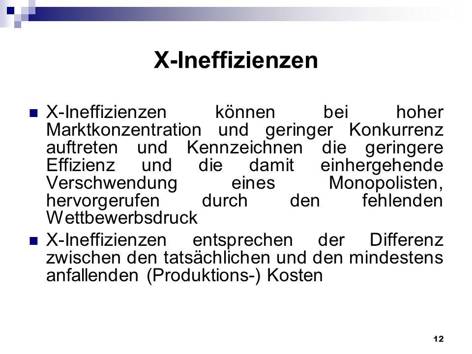 X-Ineffizienzen