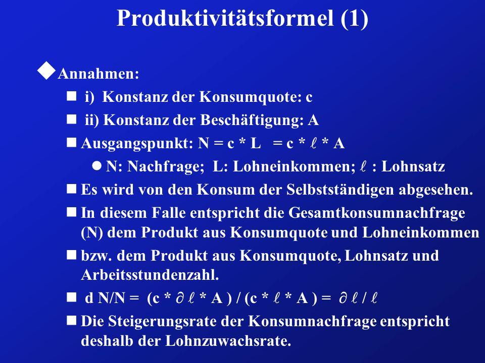 Produktivitätsformel (1)