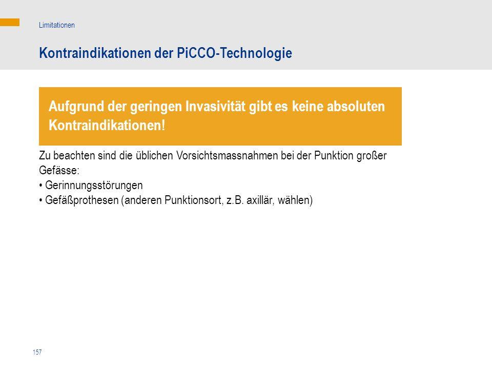 Kontraindikationen der PiCCO-Technologie