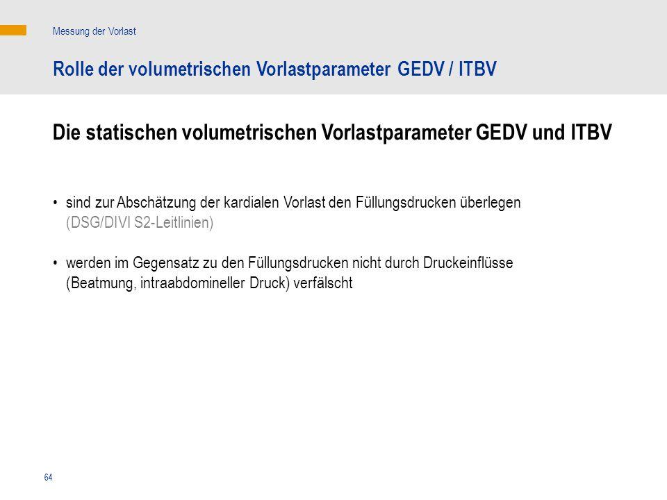 Die statischen volumetrischen Vorlastparameter GEDV und ITBV