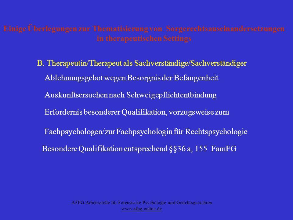 AFPG/Arbeitsstelle für Forensische Psychologie und Gerichtsgutachten
