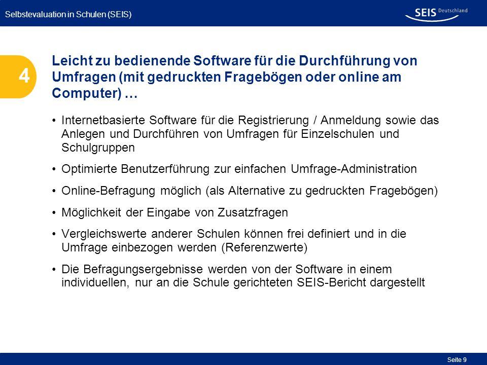 Leicht zu bedienende Software für die Durchführung von Umfragen (mit gedruckten Fragebögen oder online am Computer) …
