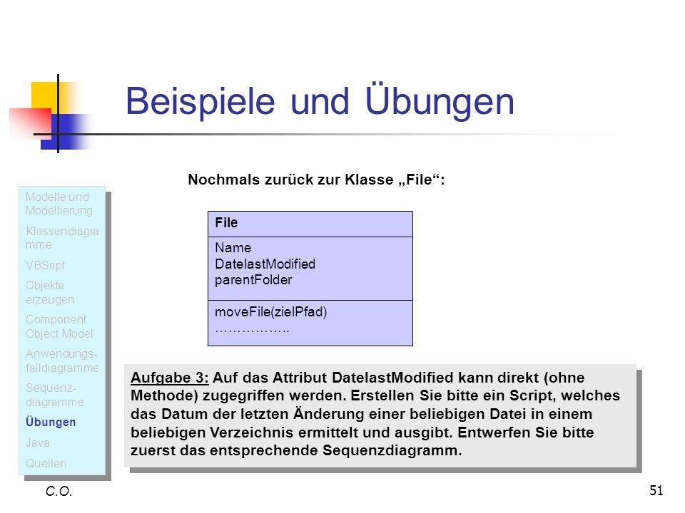"""Beispiele und Übungen Nochmals zurück zur Klasse """"File :"""