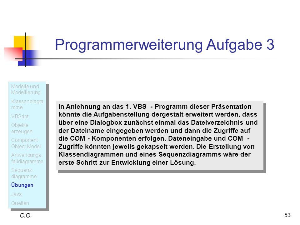 Programmerweiterung Aufgabe 3