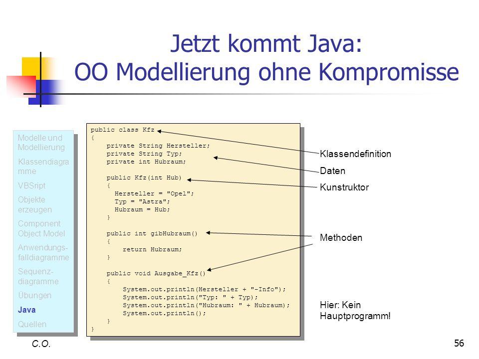 Jetzt kommt Java: OO Modellierung ohne Kompromisse