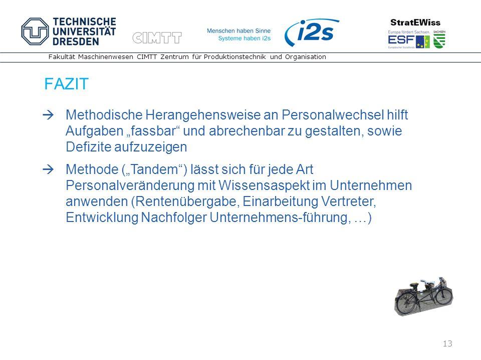 """FAZIT Methodische Herangehensweise an Personalwechsel hilft Aufgaben """"fassbar und abrechenbar zu gestalten, sowie Defizite aufzuzeigen."""