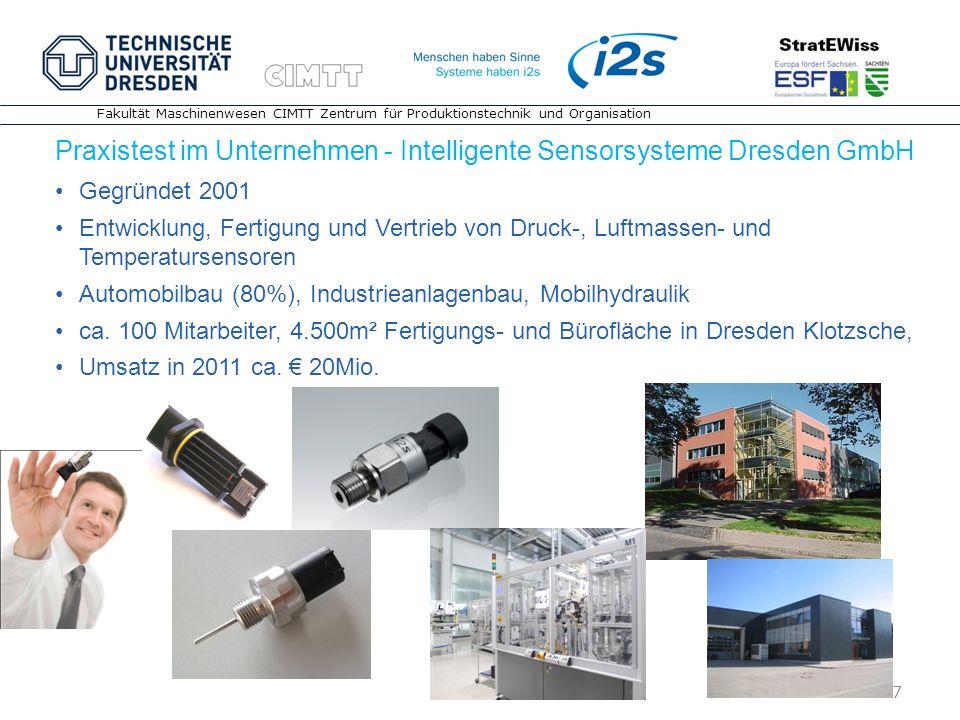 Praxistest im Unternehmen - Intelligente Sensorsysteme Dresden GmbH