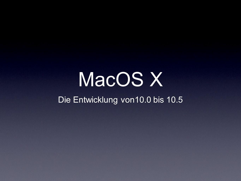 Die Entwicklung von10.0 bis 10.5