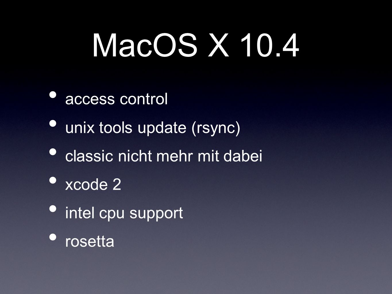 MacOS X 10.4 access control unix tools update (rsync)