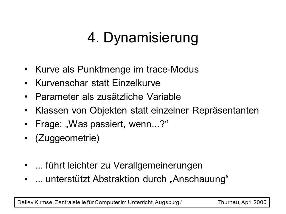4. Dynamisierung Kurve als Punktmenge im trace-Modus