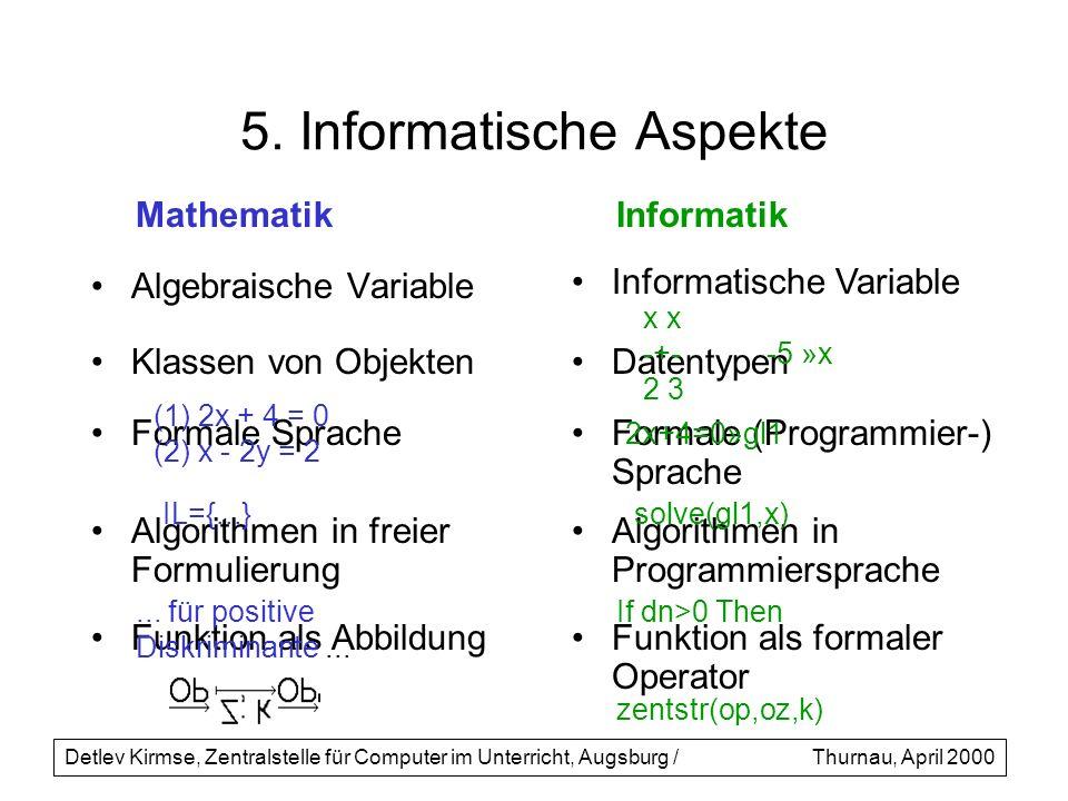 5. Informatische Aspekte