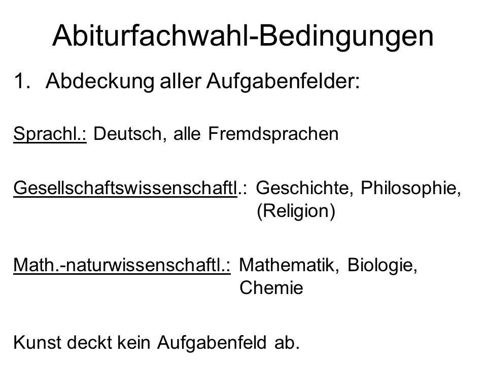 Abiturfachwahl-Bedingungen