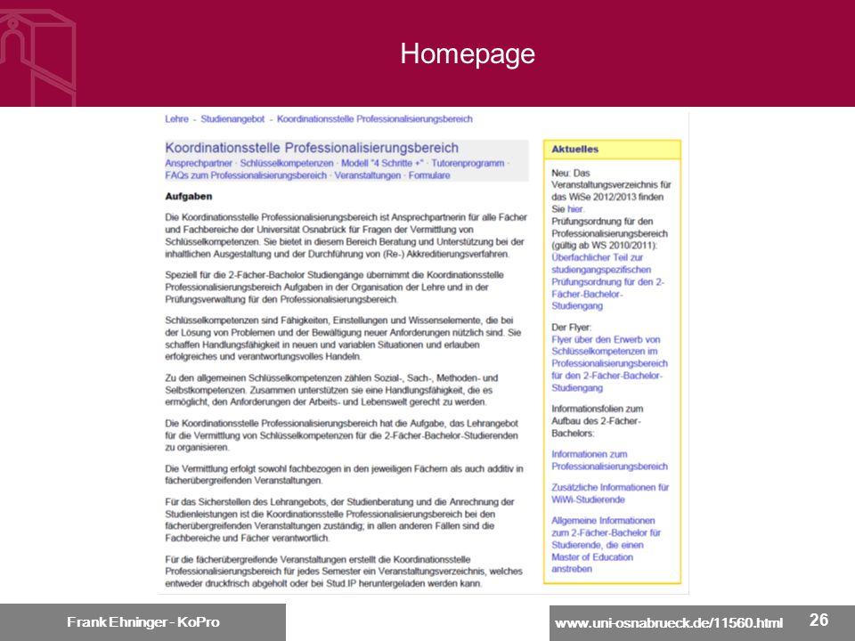 Homepage Frank Ehninger - KoPro 26 26