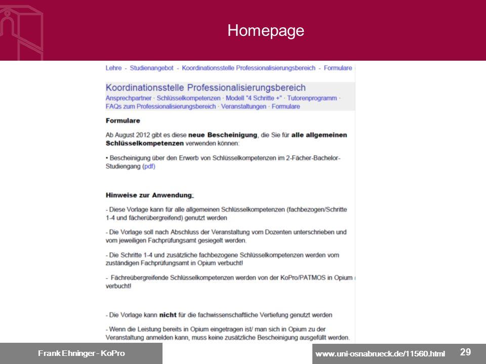 Homepage Frank Ehninger - KoPro 29 29