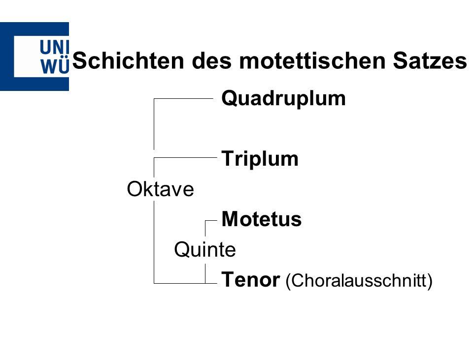 Schichten des motettischen Satzes