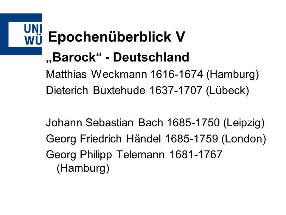 "Epochenüberblick V ""Barock - Deutschland"