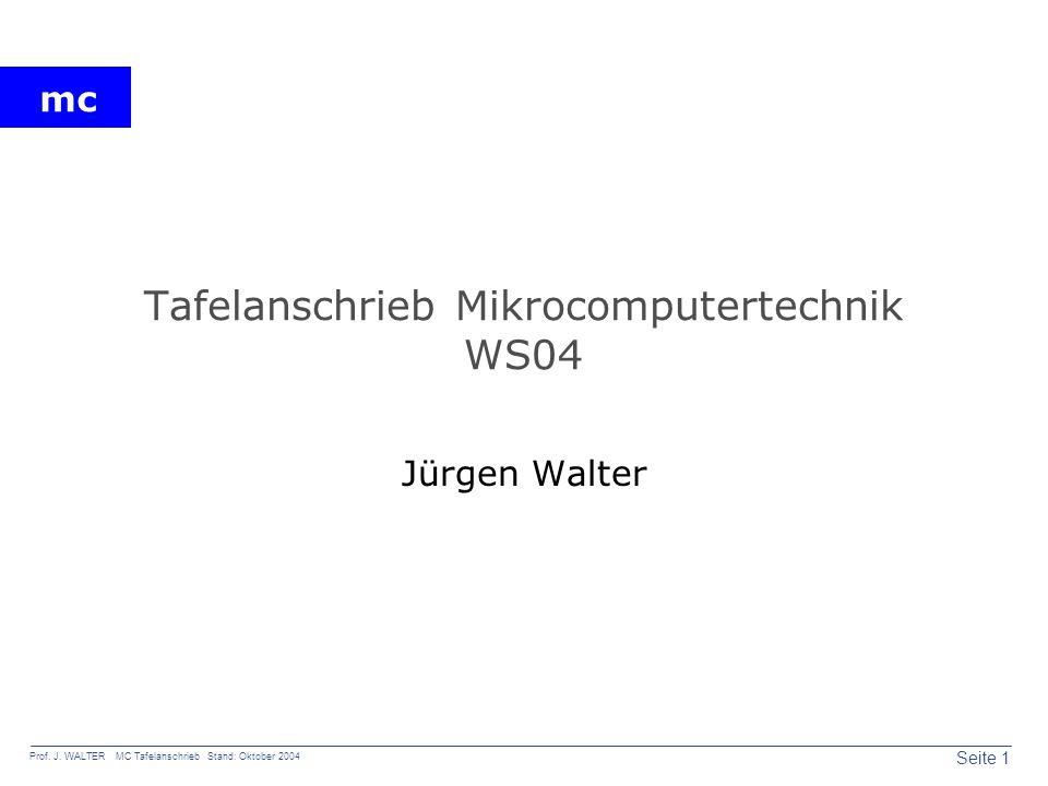 Tafelanschrieb Mikrocomputertechnik WS04