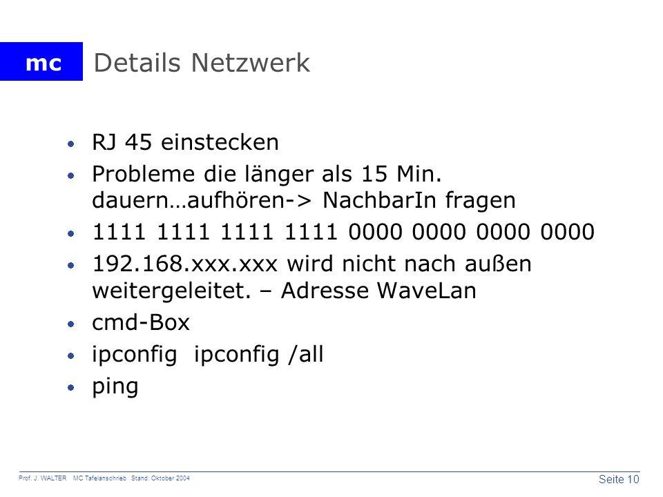 Details Netzwerk RJ 45 einstecken