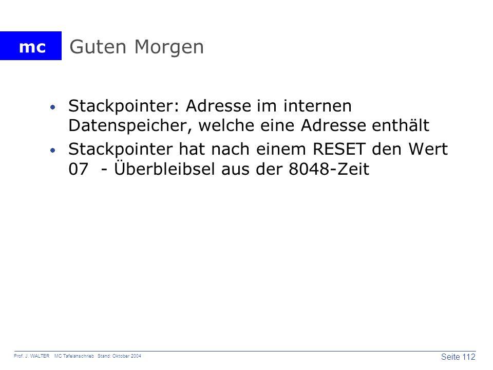 Guten Morgen Stackpointer: Adresse im internen Datenspeicher, welche eine Adresse enthält.