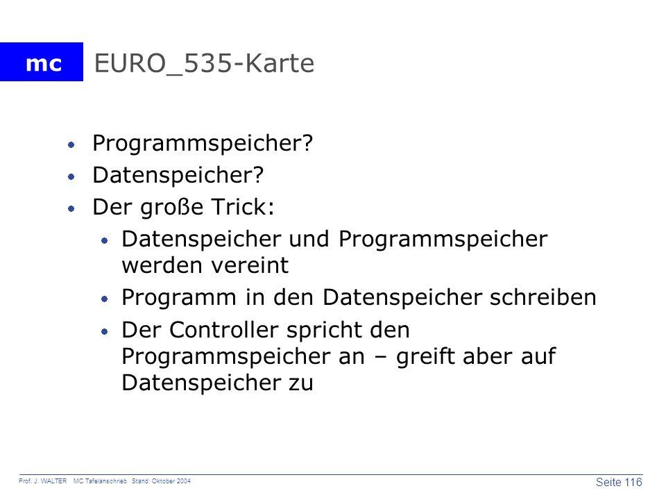 EURO_535-Karte Programmspeicher Datenspeicher Der große Trick: