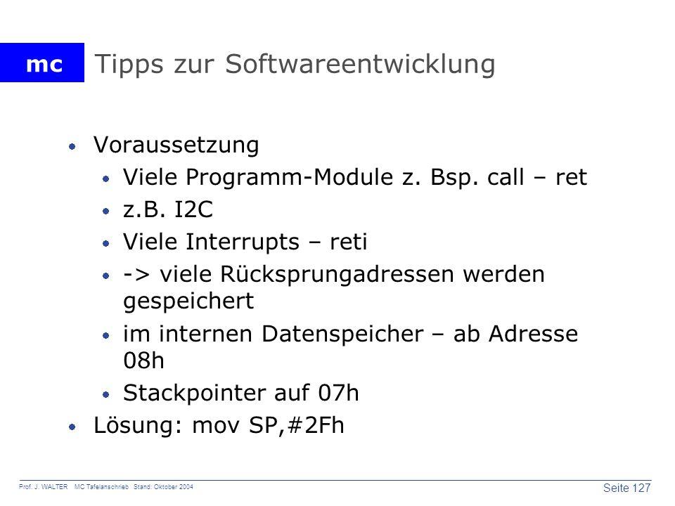 Tipps zur Softwareentwicklung