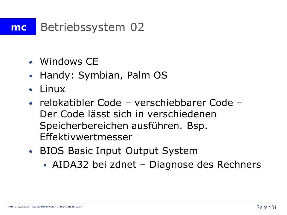 Betriebssystem 02 Windows CE Handy: Symbian, Palm OS Linux