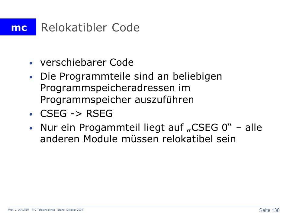 Relokatibler Code verschiebarer Code