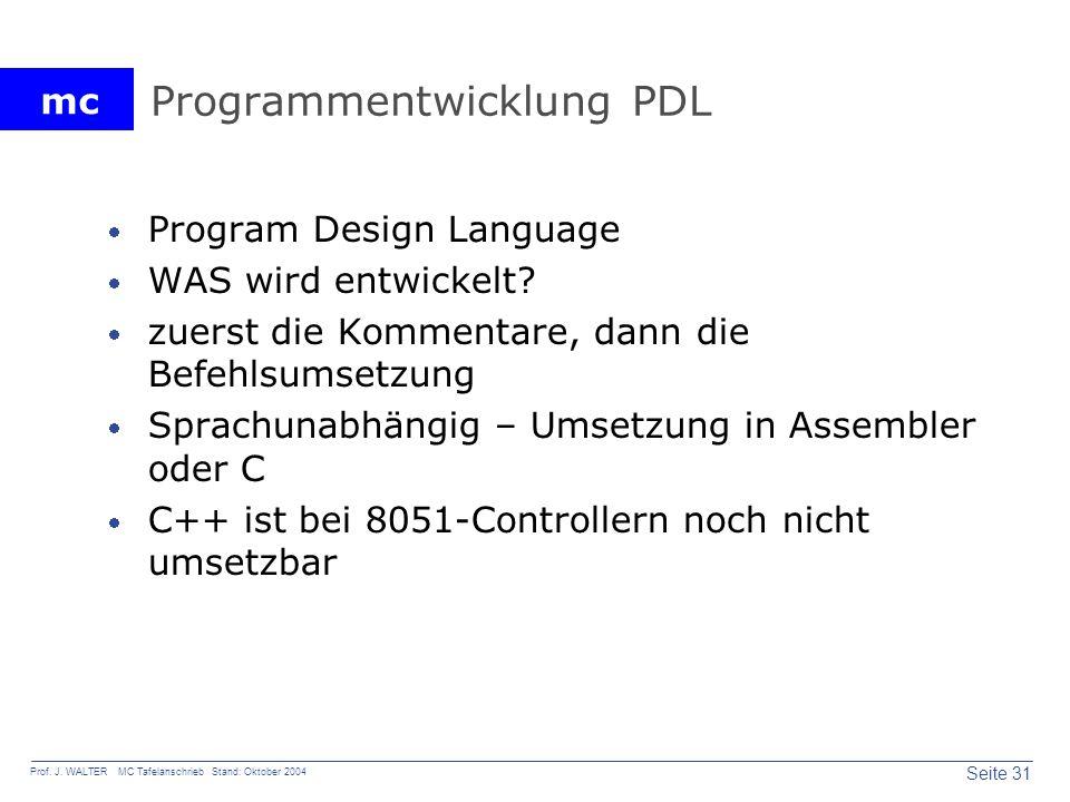 Programmentwicklung PDL