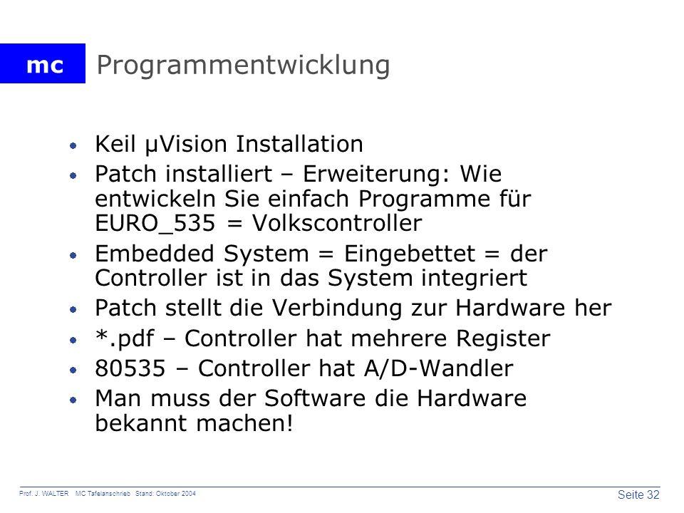 Programmentwicklung Keil µVision Installation