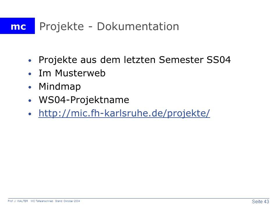 Projekte - Dokumentation