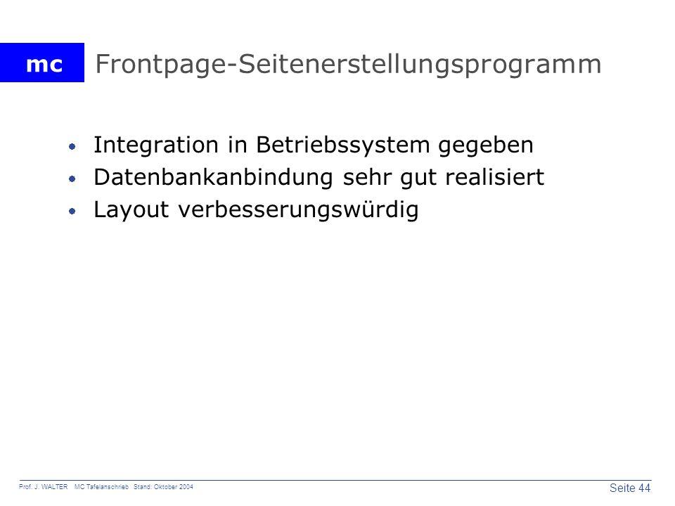 Frontpage-Seitenerstellungsprogramm