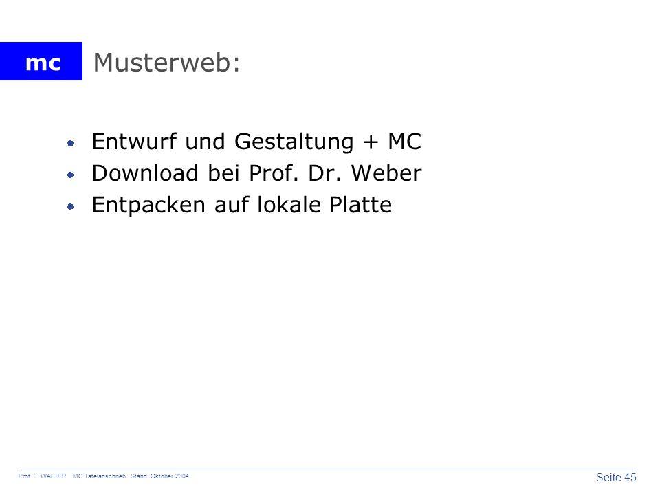 Musterweb: Entwurf und Gestaltung + MC Download bei Prof. Dr. Weber