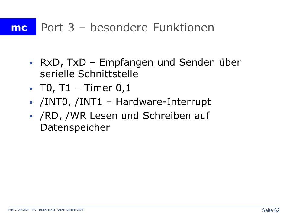 Port 3 – besondere Funktionen